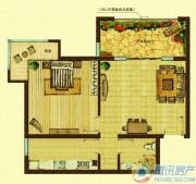 k2海棠湾棠院2室2厅1卫90平方米户型图