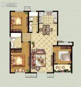 福临广场3室2厅2卫126平方米户型图