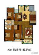 万国园白金汉府4室2厅2卫0平方米户型图