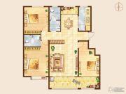 知山雅筑3室2厅2卫140平方米户型图