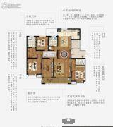 上林熙园4室2厅3卫196平方米户型图