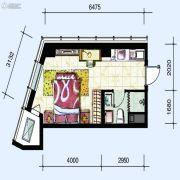 华府新天地1室1厅1卫42平方米户型图
