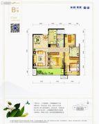 龙湖紫宸3室2厅2卫104平方米户型图