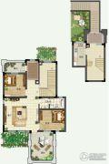 青建香根四季2室1厅1卫106平方米户型图