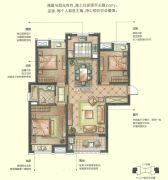 华润中心 高层3室2厅1卫115平方米户型图