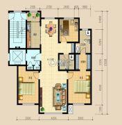 信合・龙湾半岛3室2厅2卫135平方米户型图