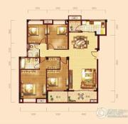 泰然南湖玫瑰湾4室2厅2卫151平方米户型图