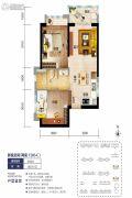 海口碧桂园2室2厅1卫66平方米户型图