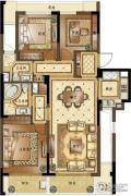 融创常州御园3室2厅2卫120平方米户型图