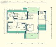 汇显城市公园3室2厅2卫105--106平方米户型图