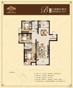 荣悦华府3室2厅2卫122平方米户型图