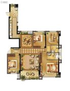 长乐阳光城翡丽湾4室2厅2卫152平方米户型图