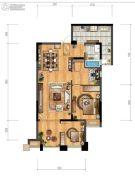 协信城立方1室2厅1卫72平方米户型图