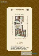 公园里3室2厅1卫95平方米户型图