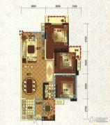 领地・国际公馆3室2厅1卫89平方米户型图