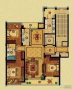 百合花园3室2厅2卫158平方米户型图