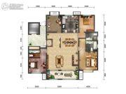 绿地・海珀天沅3室2厅3卫200平方米户型图