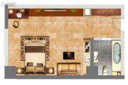 紫郡华宸1室1厅1卫42平方米户型图