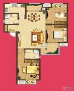 泰盈八千里3室2厅2卫129平方米户型图