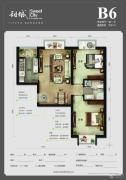 首尔・甜城2室2厅1卫83平方米户型图