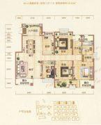 银基誉府4室2厅2卫145平方米户型图