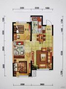 万科・金域国际2室2厅1卫90平方米户型图