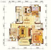 海宏江南壹号4室2厅2卫121平方米户型图