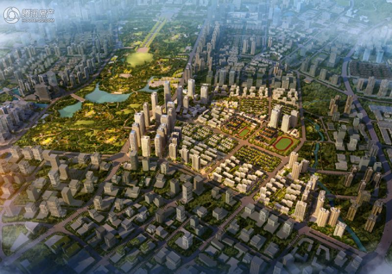 中交中央公园项目鸟瞰图