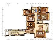 环球汇天誉4室2厅2卫220平方米户型图