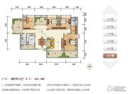 紫瑞华庭4室2厅2卫190--197平方米户型图