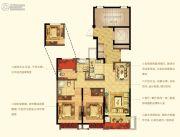 宁波新城吾悦广场3室2厅2卫105平方米户型图