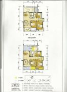 百盛公馆・世纪1号3室2厅2卫140平方米户型图