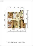 佳兆业君汇上品3室2厅1卫0平方米户型图