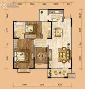 中南一号院2室2厅1卫102平方米户型图