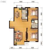 世百居・洪湖湾2室2厅1卫90平方米户型图