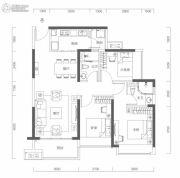 海伦城3室2厅2卫95平方米户型图