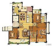 青林湾8期4室2厅2卫168平方米户型图