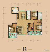 东岳国际4室2厅2卫163平方米户型图