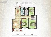 北城明珠二期3室2厅2卫125平方米户型图