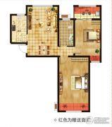 空港新城2室2厅1卫85平方米户型图