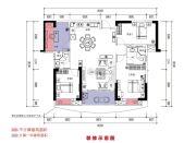 恒晟御水湾4室2厅2卫130平方米户型图