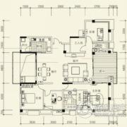 泰然南湖玫瑰湾4室2厅2卫174平方米户型图
