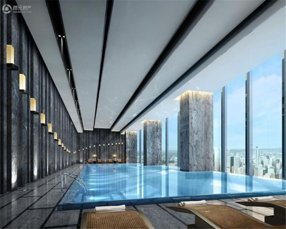 星汇豪生酒店游泳池意境图