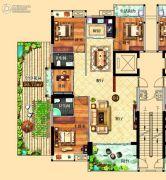 鸿泰华府4室2厅2卫155平方米户型图