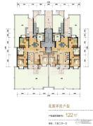 天津海航城3室2厅1卫122平方米户型图