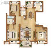 金辉尊域雅苑3室2厅2卫125平方米户型图