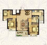 恒大御景湾3室2厅1卫104平方米户型图
