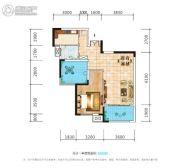 荣泰广场1室2厅1卫77平方米户型图
