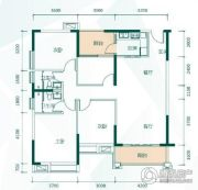 鸿业畔湖居4室2厅2卫0平方米户型图