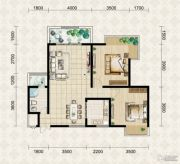 翱达公馆2室2厅1卫88平方米户型图